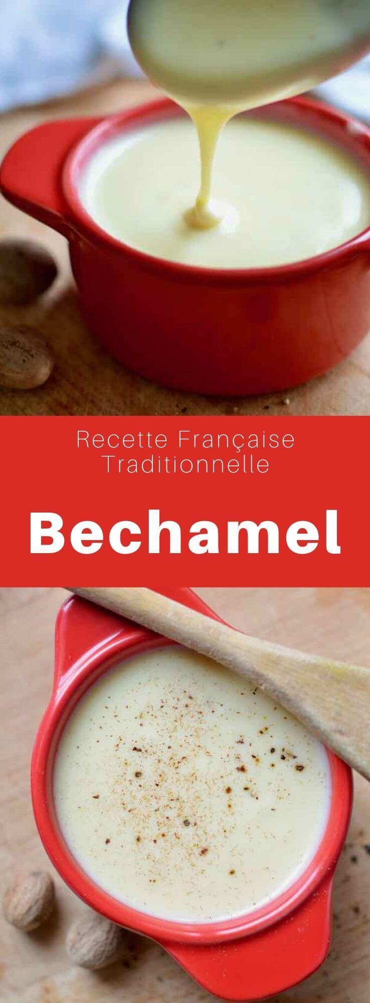 La sauce béchamel est un classique de la cuisine française, qui sert de base à de nombreuses recettes, préparée à partir d'un roux cuit avec du lait. #RecetteFrancaise #CuisineFrancaise #CuisineDuMonde #196flavors