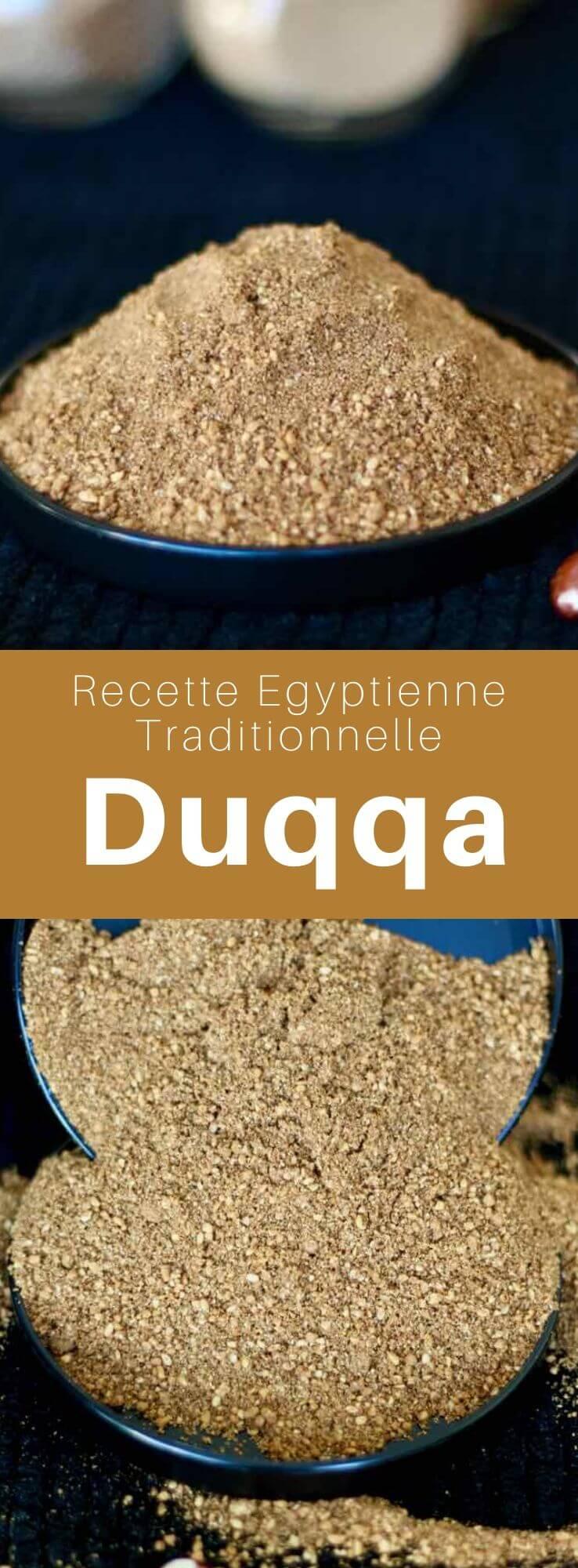 Le dukkah est un mélange d'épices, de graines et fruits secs, originaire d'Égypte et populaire au Moyen-Orient, en Ethiopie, Australie et Nouvelle-Zélande. #Egypte #RecetteEgyptienne #CuisineEgyptienne #CuisineDuMonde #196flavors