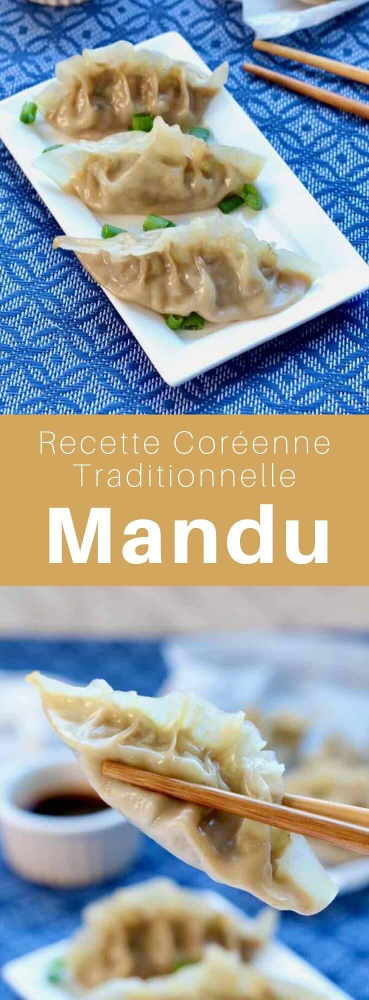 Le mandu (만두) en est un plat de raviolis originaires de Corée qui peuvent être bouillis, cuits à la vapeur, revenus ou frits. Ils sont dérivés des jiaozi chinois. #Coree #CoreeDuSud #CoreeDuNord #CuisineDuMonde #196flavors