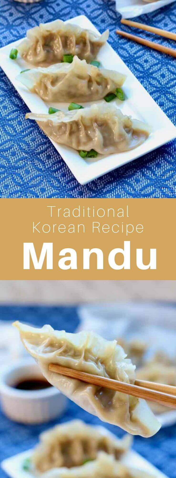 Mandu (만두) are dumplings from Korea that can be boiled, steamed, deep-fried or pan-fried. They are a variant of Chinese jiaozi. #KoreanFood #KoreanRecipe #KoreanCuisine #WorldCuisine #196flavors