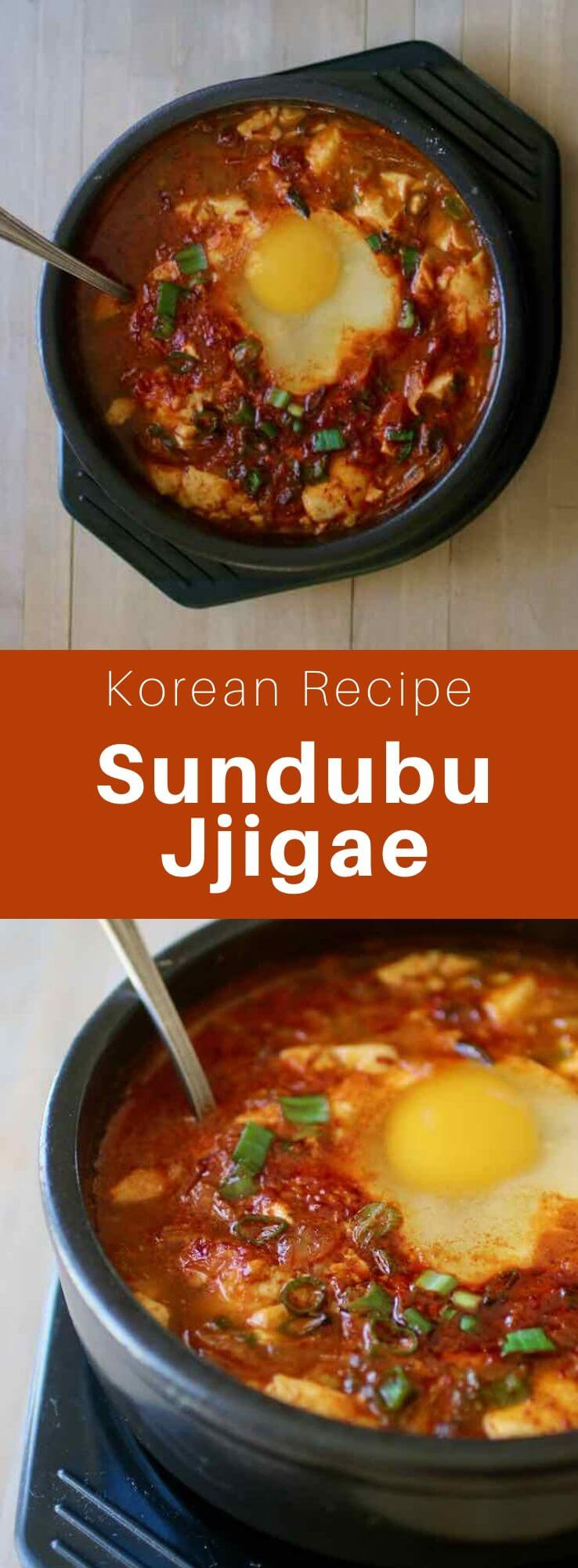 Sundubu jjigae is a traditional Korean dish, between a soup and stew, made with silky tofu, that is simmered in a spicy sauce. #KoreanFood #KoreanRecipe #KoreanCuisine #WorldCuisine #196flavors
