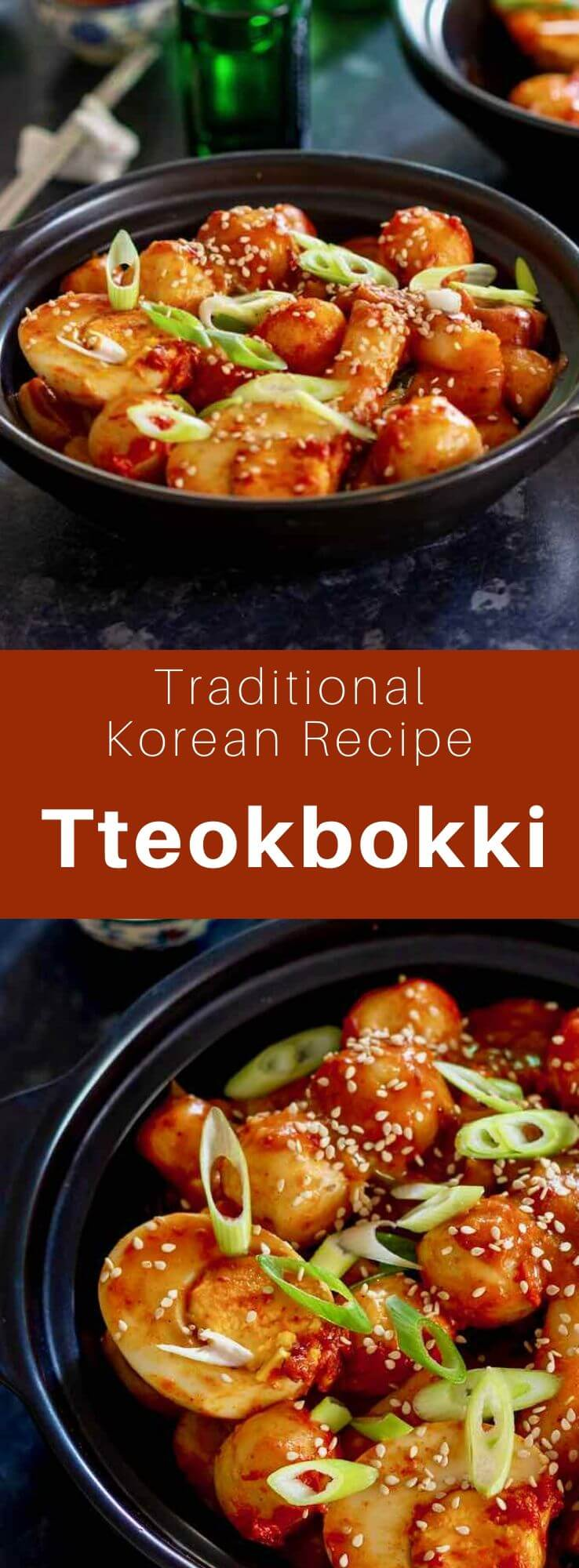 Tteokbokki (떡볶이) is a dish of Korean rice cakes (garaetteok), most commonly stir-fried in a spicy sauce made from gochujang (red chilli paste) and a savory broth. #KoreanFood #KoreanRecipe #KoreanCuisine #WorldCuisine #196flavors