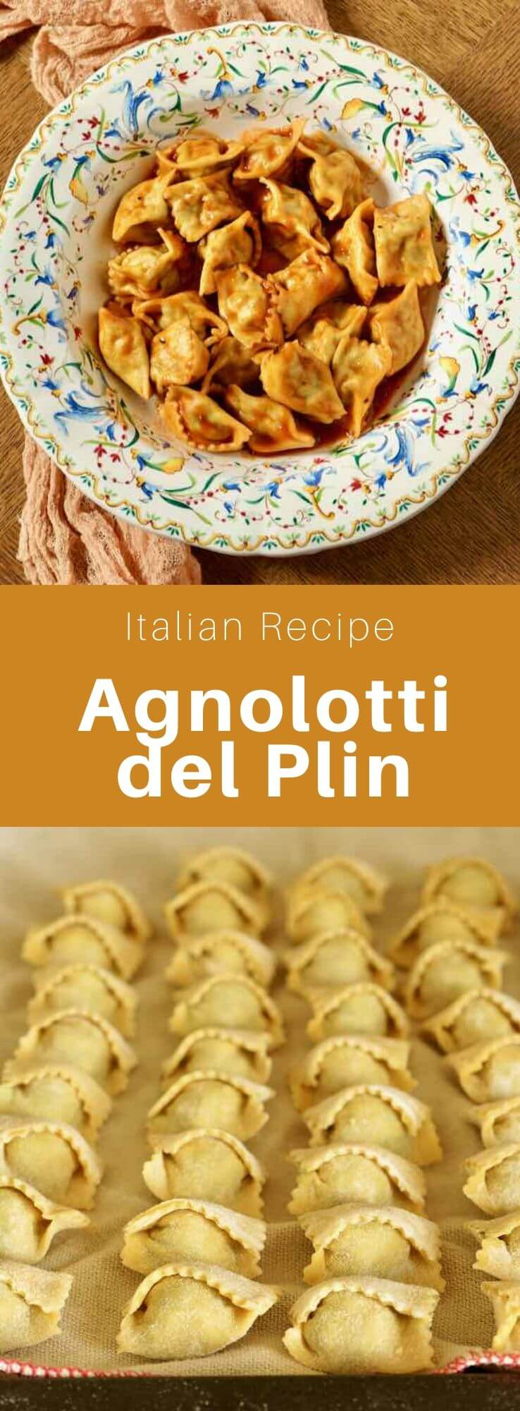 Agnolotti are stuffed pasta of Italian origin. The stuffing can be composed of meats and spinach but also other vegetables or cheeses. #ItalianRecipe #ItalianFood #ItalianCuisine #WorldCuisine #196 flavors