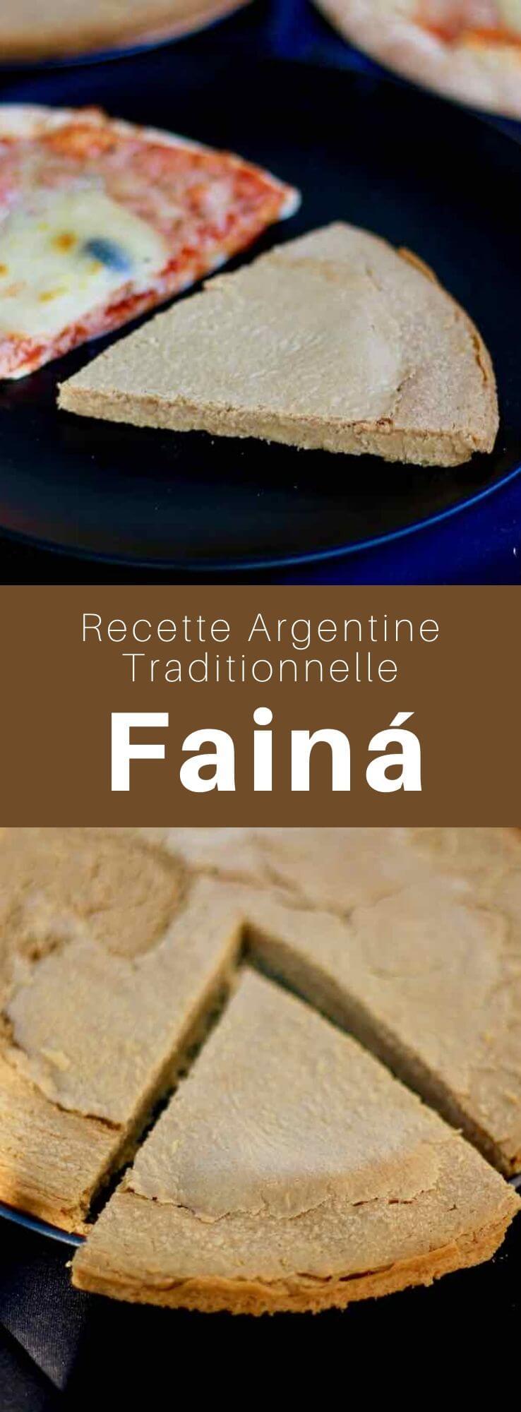 La fainá est une galette de farine de pois-chiches populaire en Argentine et en Uruguay héritée de la farinata italienne, similaire à la socca niçoise. #Argentine #RecetteArgentine #CuisineArgentine #CuisineDuMonde #196flavors