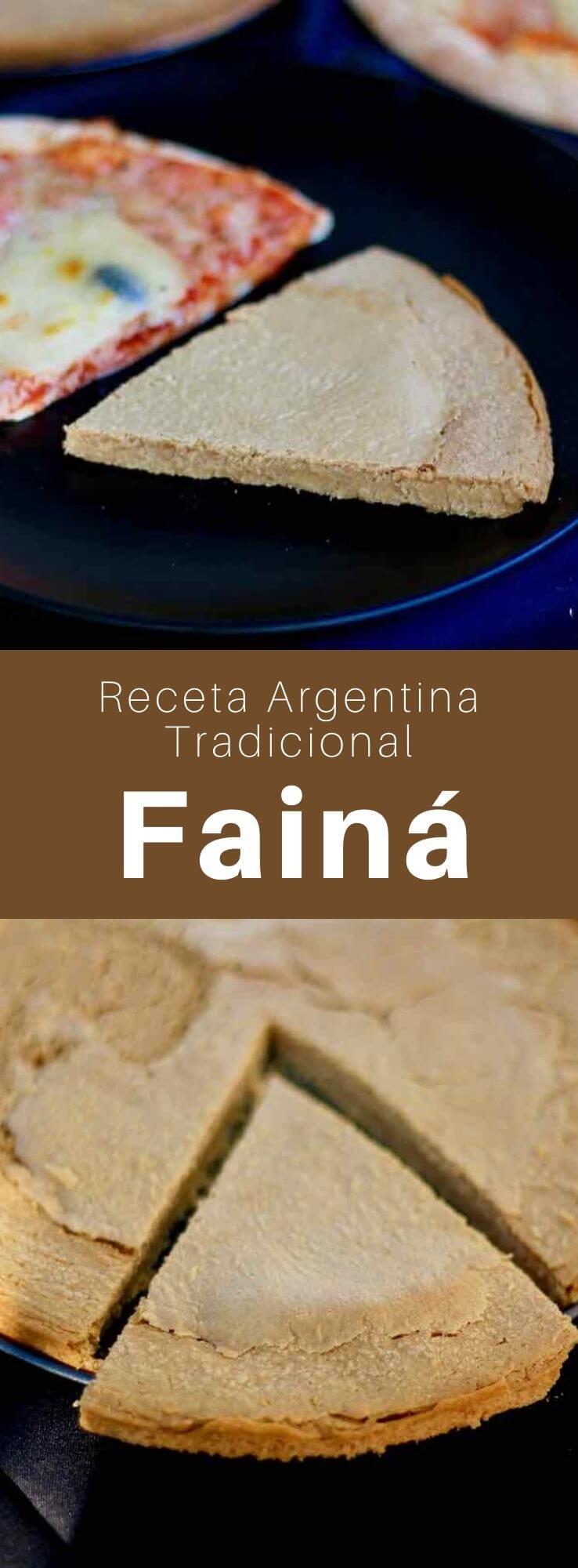 La fainá es un pan plano de harina de garbanzo, popular en Argentina y Uruguay, heredado de la farinata italiana y similar a la socca de Niza.