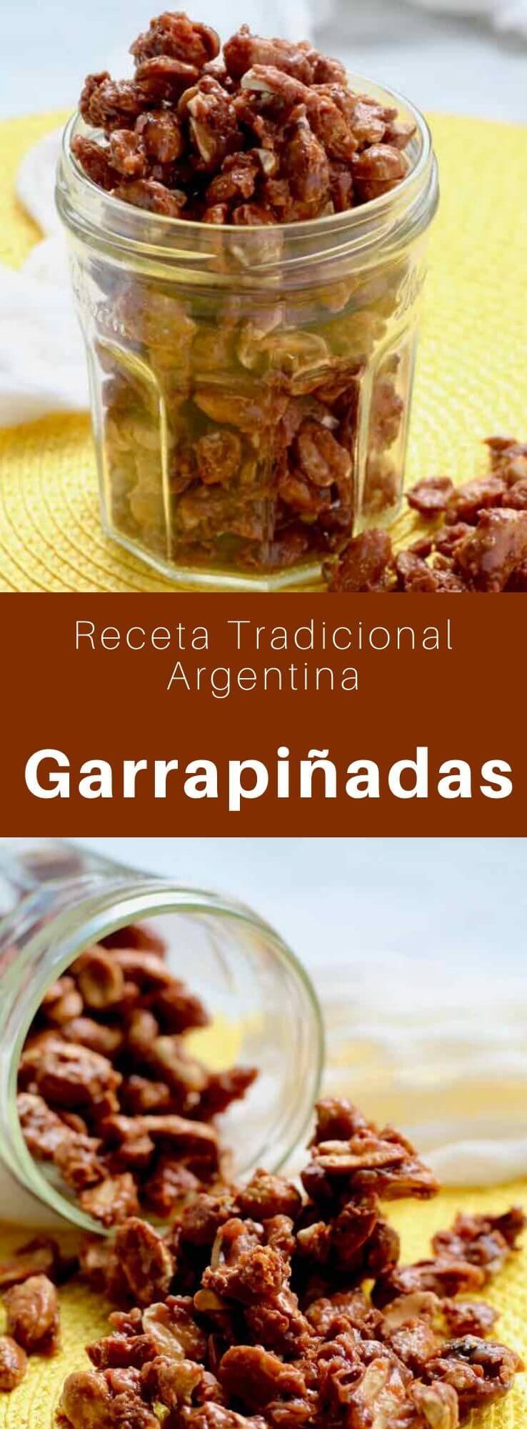 Las garrapiñadas son dulces elaborados con cacahuetes caramelizados, populares en América Latina, particularmente en Argentina, Uruguay, Chile, México y Perú.