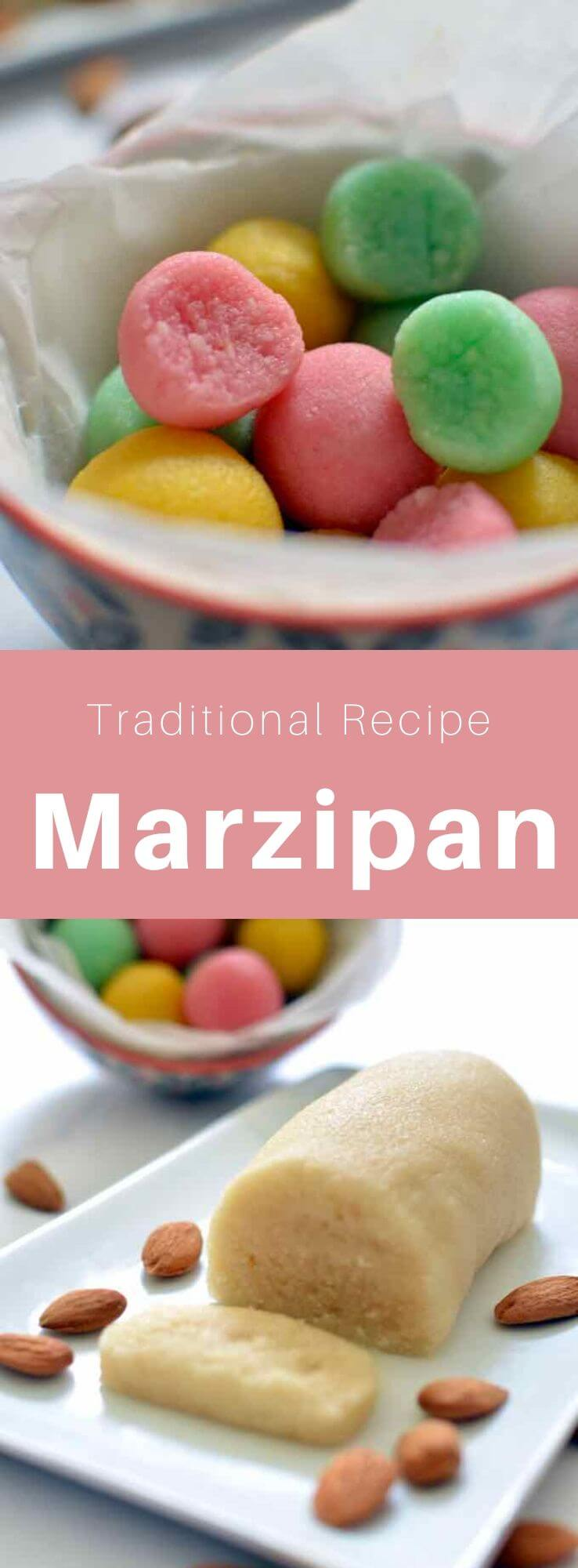 Marzipan is a traditional paste from several European countries, made from finely ground blanched almonds, mixed with egg white and icing sugar. #EuropeanRecipe #WorldCuisine #196flavors