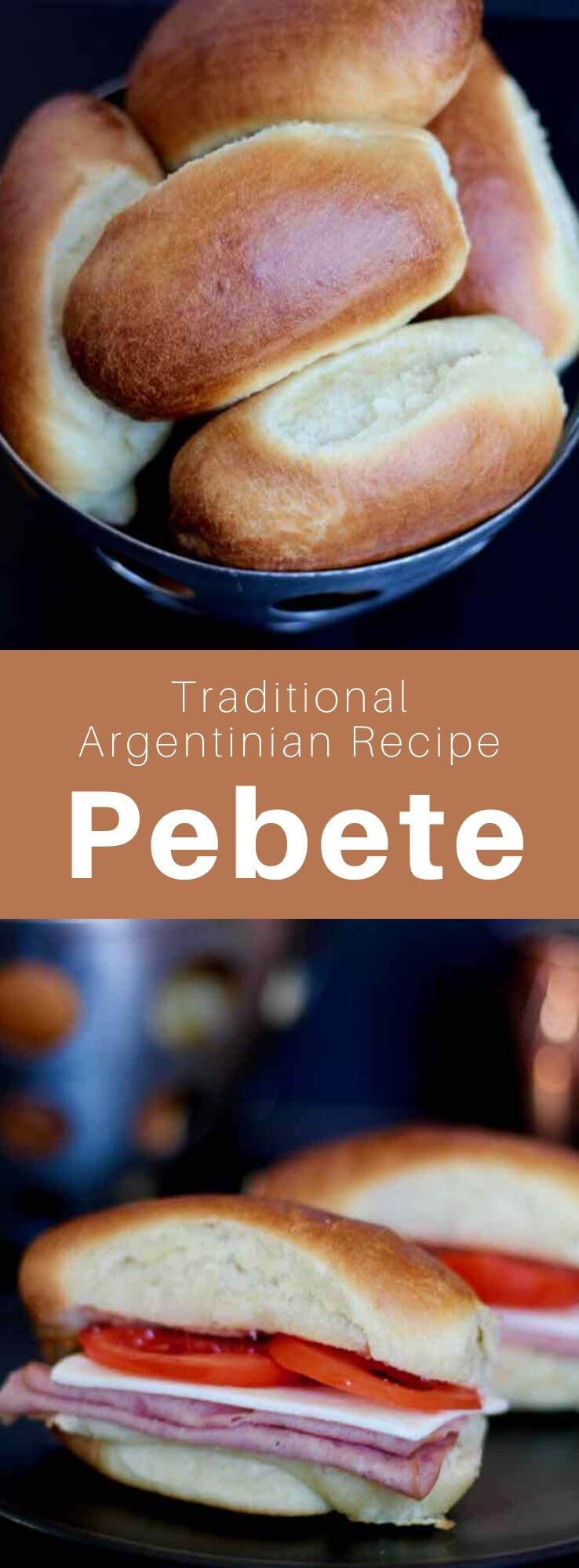 The pebete (or pan de Viena) is a bun, typical of the Argentinian and Uruguayan cuisines, which is mainly used to prepare sandwiches. #Argentina #ArgentinianRecipe #ArgentinianFood #ArgentinianCuisine #WorldCuisine #196flavors
