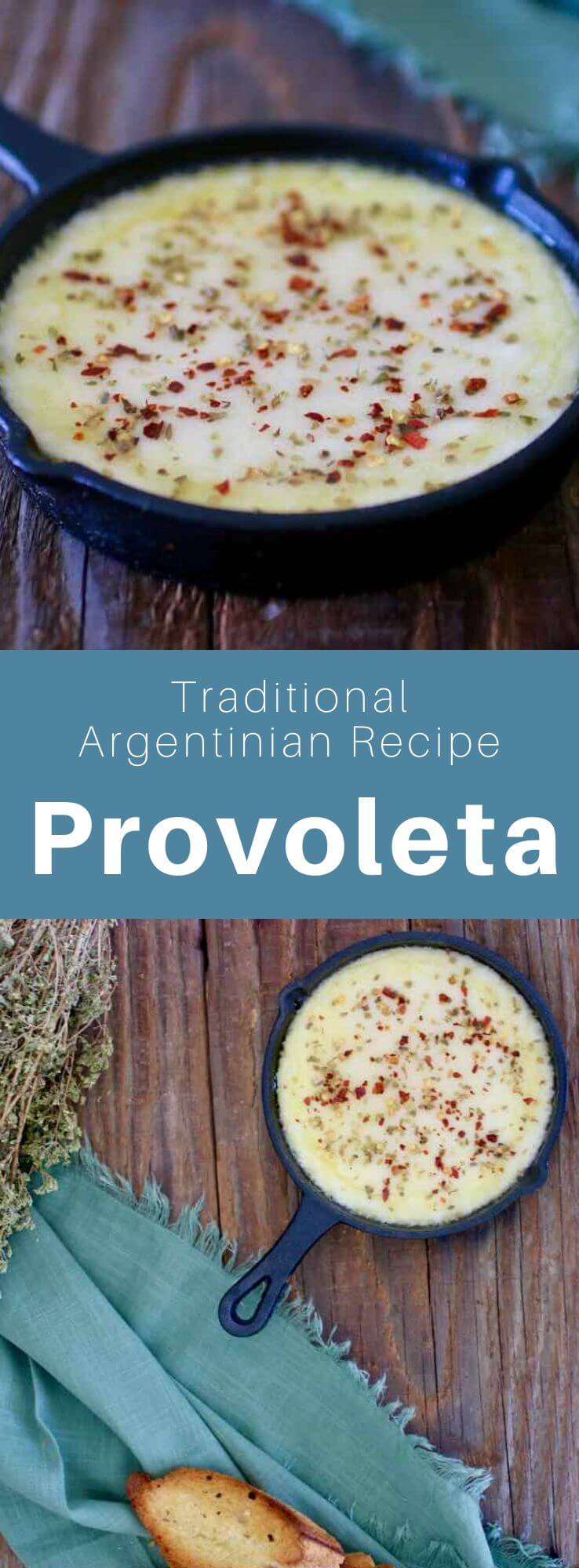 Provoleta is the popular grilled cheese of Argentinian asados. It is a version of the famous Italian provolone cheese. #Argentina #ArgentinianRecipe #ArgentinianFood #ArgentinianCuisine #WorldCuisine #196flavors