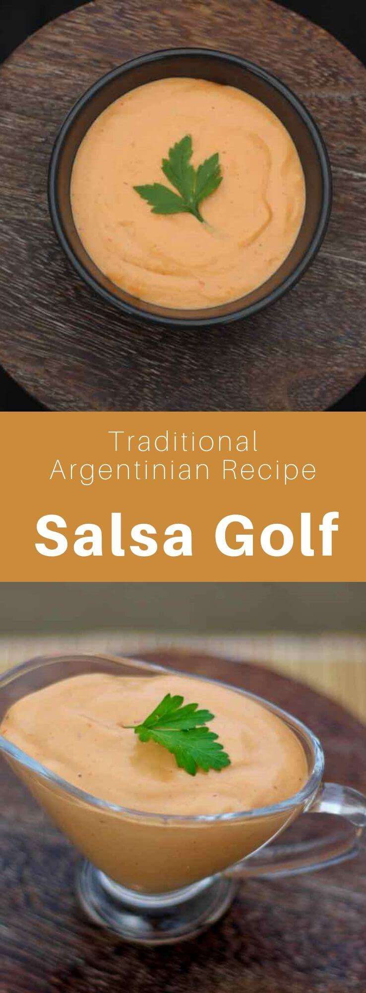 Salsa golf is an emblematic sauce of Argentine cuisine mainly composed of mayonnaise and ketchup, that can be spicy or not. #Argentina #ArgentinianRecipe #ArgentinianFood #ArgentinianCuisine #WorldCuisine #196flavors