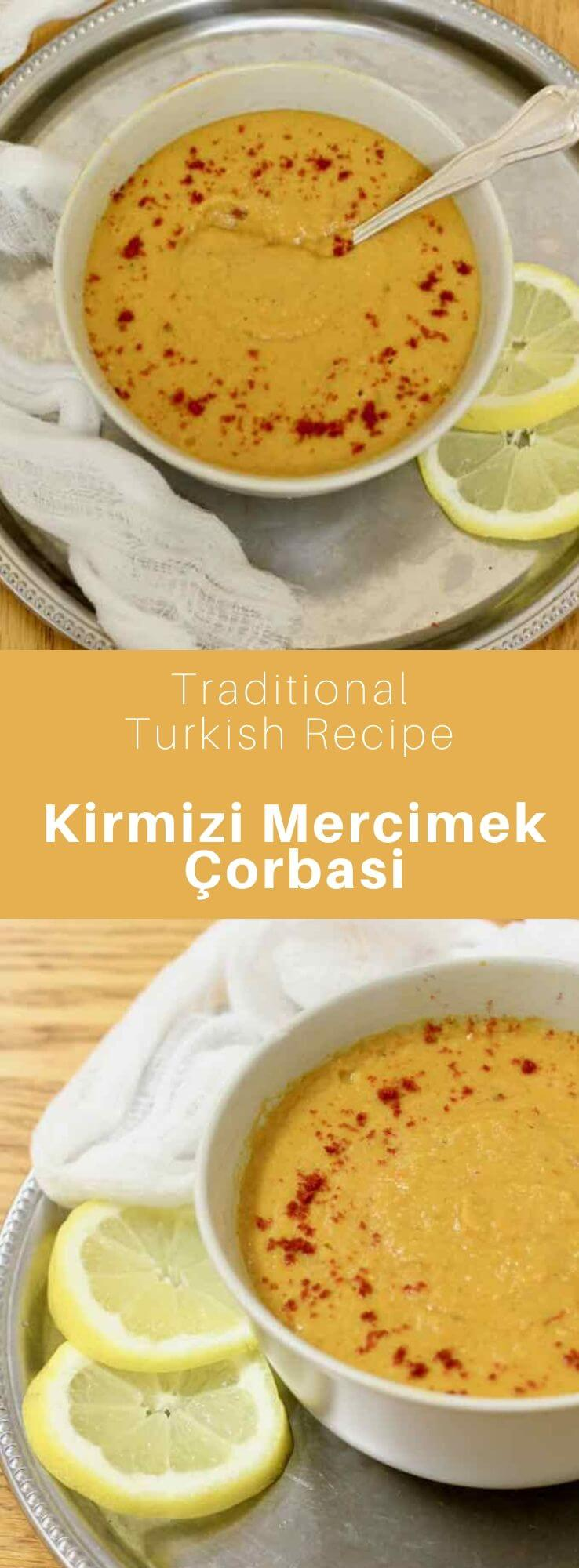 Kırmızı mercimek çorbası is a delicious and velvety red lentil soup that is traditional of Turkish cuisine. #Turkey #Turkish #TurkishRecipe #TurkishFood #TurkishCuisine #WorldCuisine #196flavors