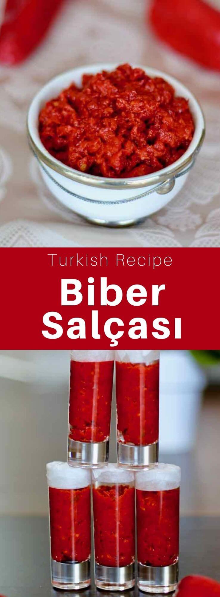Tatlı biber salçası, sweet pepper paste and acı biber salçası, hot pepper paste, are the two most used condiments in Turkey. #Turkey #Turkish #TurkishRecipe #TurkishFood #TurkishCuisine #WorldCuisine #196flavors