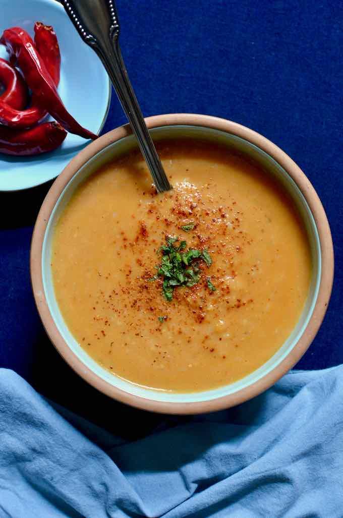 soupe de lentille corail