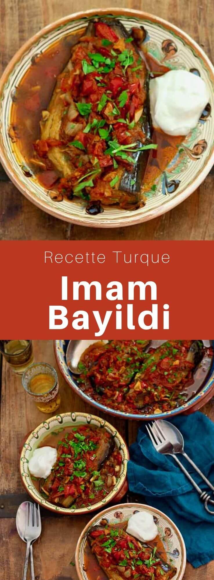 L'imam bayıldı est un mets composé d'aubergines farcies d'origine turque et populaire également dans les pays voisins ainsi que dans le monde arabe. #Turquie #RecetteTurque #CuisineTurque #CuisineDuMonde #196flavors
