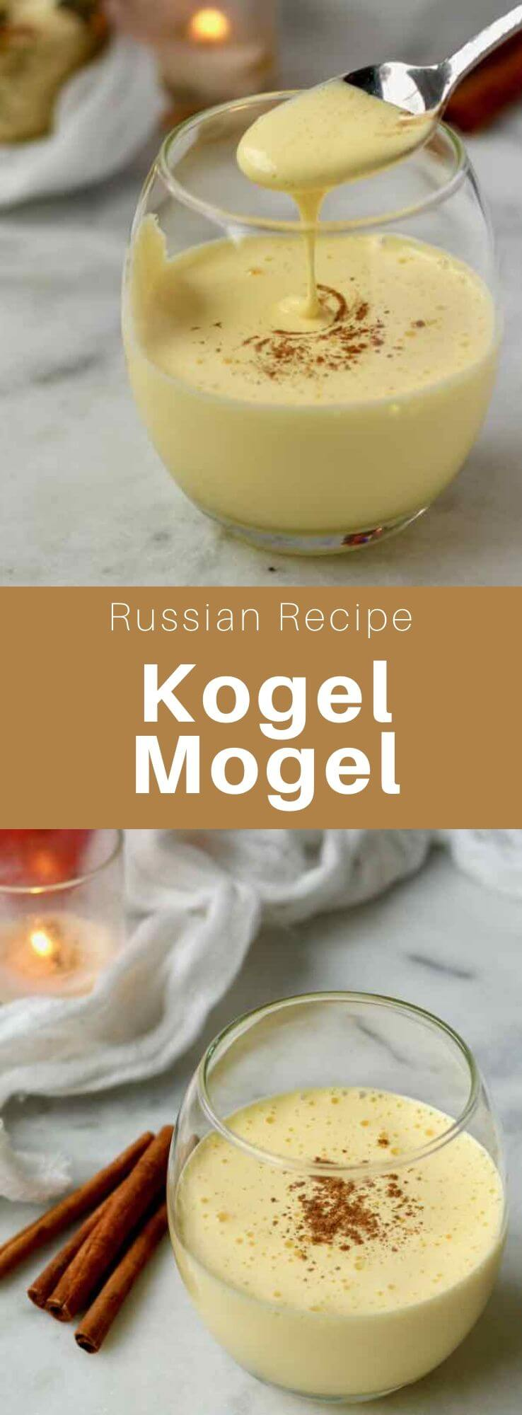 Kogel mogel is a popular dessert of Jewish origin from Central and Eastern Europe called gogel mogel in Yiddish. Similar to eggnog, it is made from egg yolk and sugar with a flavoring. #Russia #Poland #Russian #Polish #RussianRecipe #PolishRecipe #RussianFood #PoliishFood #WorldCuisine #196flavors