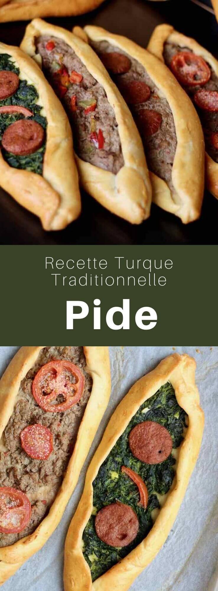 Surnommé la pizza turque, le pide est une pate boulangère en forme de barque garnie de divers ingrédients. Il est proche du lahmacun. #Turquie #RecetteTurque #CuisineTurque #CuisineDuMonde #196flavors