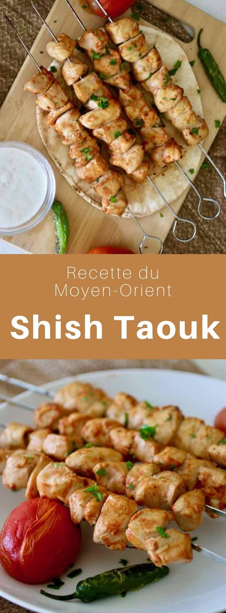 Le şiş tavuk (ou chich taouk) est une délicieuse recette de brochettes de blanc de poulet mariné, traditionnelle du Moyen-Orient. #Turquie #RecetteTurque #CuisineTurque #CuisineDuMonde #196flavors