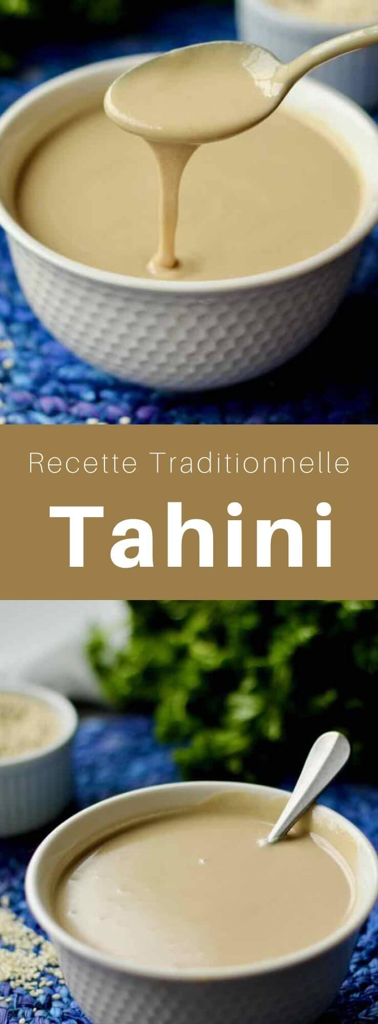 Le tahini, tahin, tahina, téhina ou tahiné (طحينة) est une crème de graines de sésame broyées utilisée dans les cuisines du Levant et de la Méditerranée orientale, du Caucase du Sud, et dans certaines parties de l'Afrique du Nord. #Levant #CuisineLevantine #RecetteLevantine #MoyenOrient #Sauce #CuisineDeMonde #196flavors