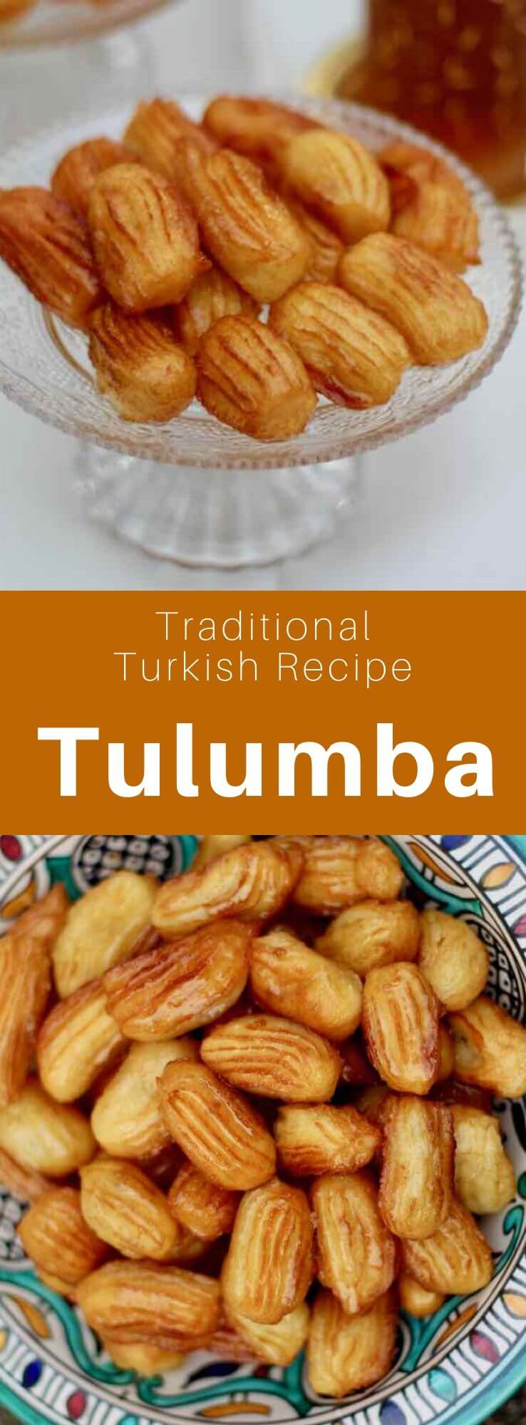 Tulumba is a traditional Turkish dessert made with thick fried choux pastry sticks which are dipped in a delicious sugar syrup. #Turkey #Turkish #TurkishRecipe #TurkishFood #TurkishCuisine #WorldCuisine #196flavors
