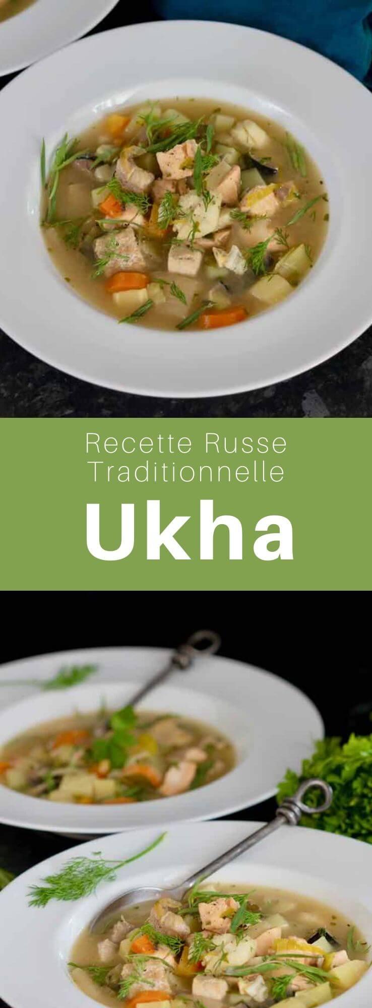 L'oukha (уха) est une soupe de poissons, agrémentée de poireau, pommes de terre, laurier, aneth, estragon et persil, traditionnelle de la cuisine russe. #Russie #RecetteRusse #CuisineRusse #CuisineDuMonde #196flavors