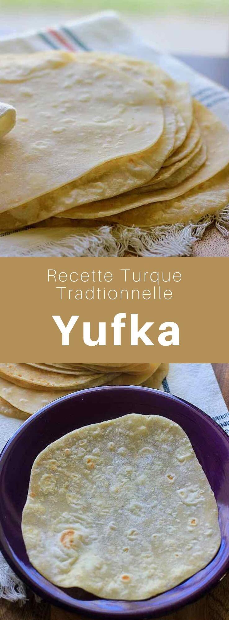Le yufka est un pain plat fin, rond et sans levain de la cuisine turque, similaire au lavash. Dans la langue turque, yufka signifie également pâte phyllo. #Turquie #RecetteTurque #CuisineTurque #CuisineDuMonde #196flavors