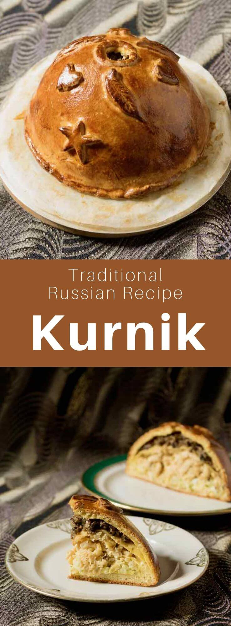 Kurnik (курник) is a traditional Russian chicken pie served at weddings or other festive events like the Feast of the Trinity. #Russia #Russian #RussianRecipe #RussianFood #WorldCuisine #196flavors