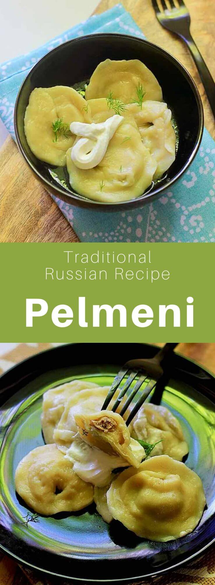 Pelmeni (пельмени) is a traditional Russian dish originating from the Urals, that is made from a kind of ravioli stuffed with ground meat or fish. #Russia #Russian #RussianRecipe #RussianFood #WorldCuisine #196flavors