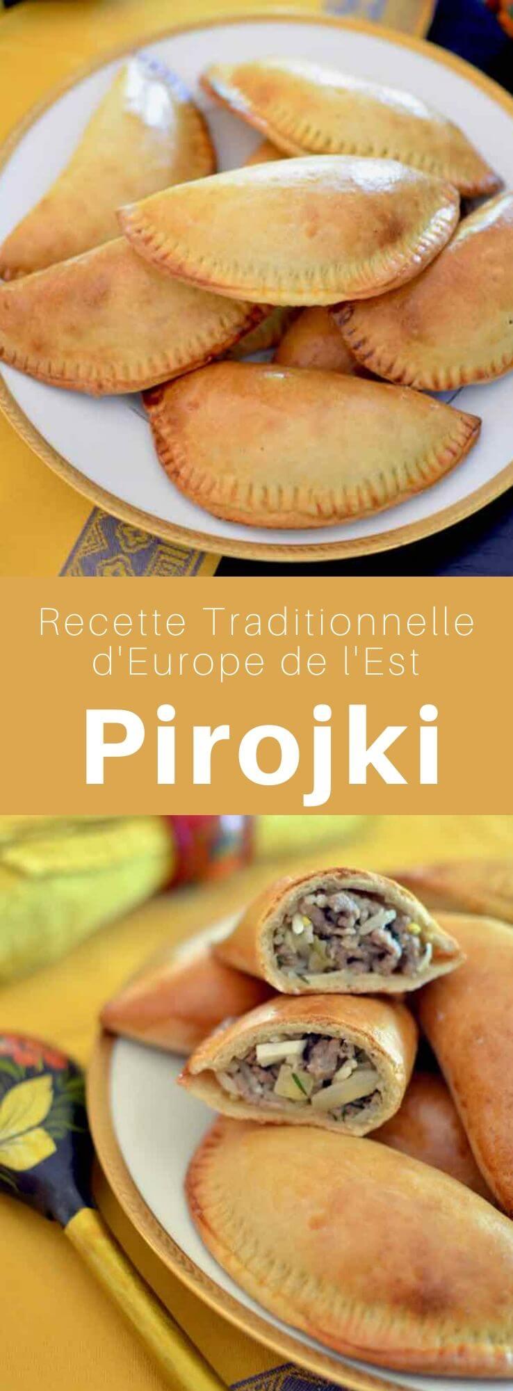Les pirojki sont des petits chaussons d'origine russe, cuits ou frits, qui peuvent être farcis de viande hachée, de fromage, de champignons ou de légumes. #Russie #RecetteRusse #CuisineRusse #CuisineDuMonde #196flavors