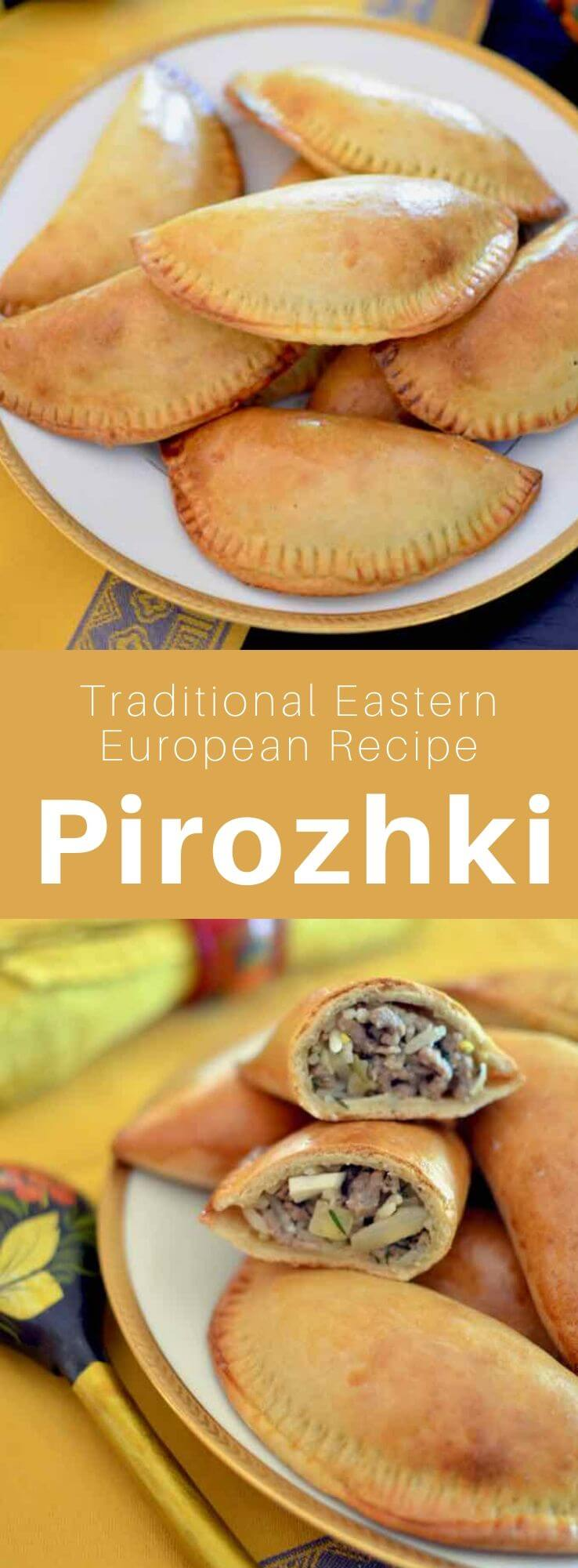 Pirojki are small turnovers of Russian origin, cooked or fried, which can be stuffed with minced meat, cheese, mushrooms or vegetables. #Russia #Russian #RussianRecipe #RussianFood #WorldCuisine #196flavors