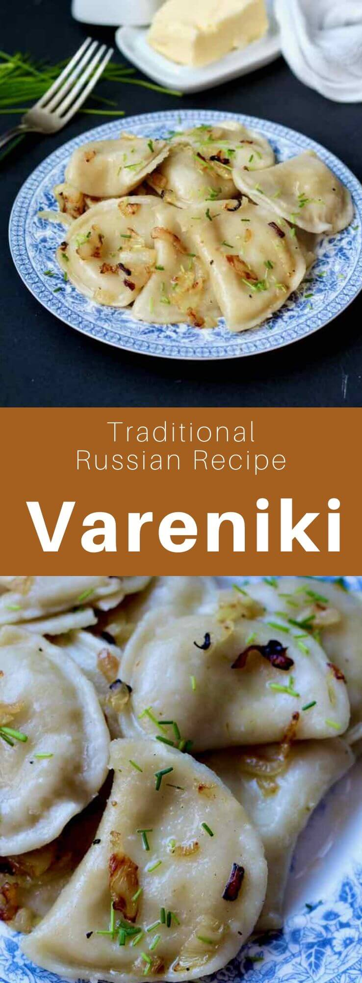 Vareniki (варе́ники) are dumplings similar to Polish pierogi, that are traditional in Ukraine and Russia. There are several kinds of fillings, with mashed potatoes being the most classic. #Russia #Russian #RussianRecipe #RussianFood #Ukraine #Ukrainian #UkrainianRecipe #UkrainianFood #WorldCuisine #196flavors