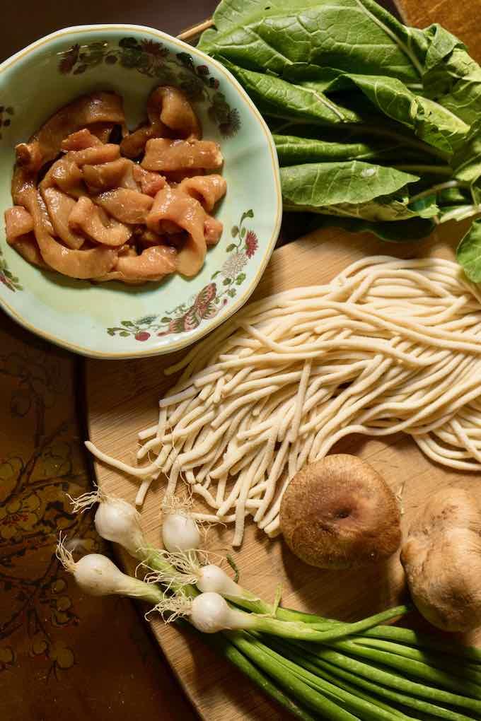 Shanghai fried noodles traditionnelles