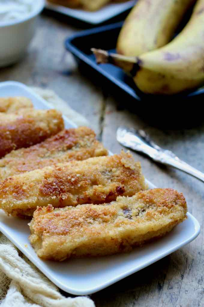 oven-baked bananas